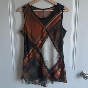 Lafayette 148 Sleeveless Silk Blouse Top Size 6